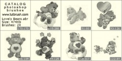 Lovely Bears - photoshop brush preview