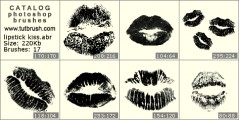 Kiss lipstick - photoshop brush preview