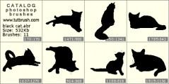 Черная кошка - превью кисти фотошоп