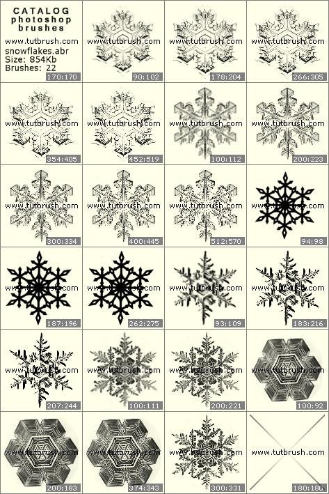 Кисті фотошоп Сніжинки