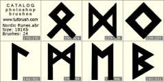 Nordic Runes - photoshop brush preview
