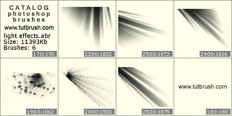 Photoshop brushes Rays of light
