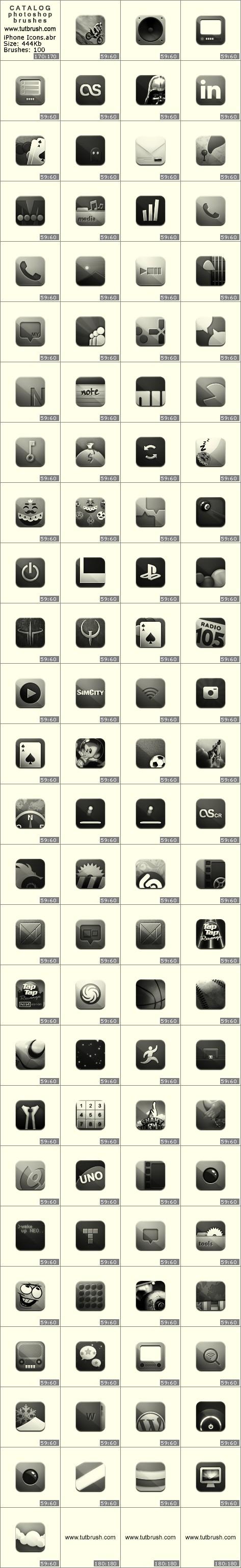 Кисти для фотошопа iPhone иконки