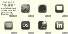 iPhone Icons - photoshop brush preview