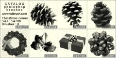 Рождество приходит - превью кисти фотошоп