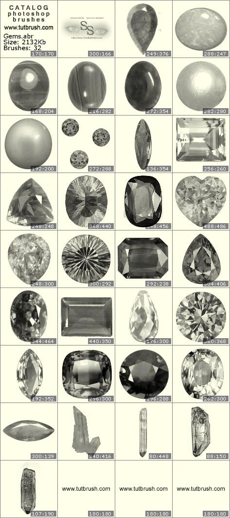 Кисти для фотошопа Драгоценные камни