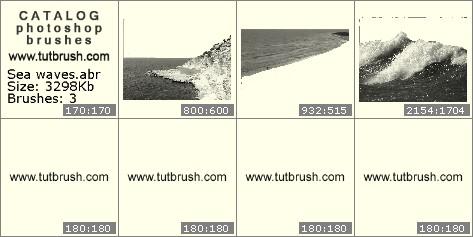 Кисти для фотошопа Морские волны