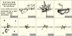 Рисунки карандашом - превью кисти фотошоп