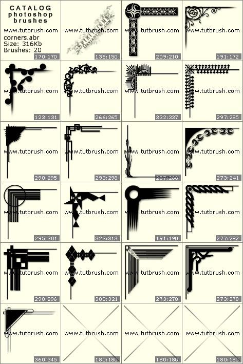 Кисти для фотошопа Декоративные углы
