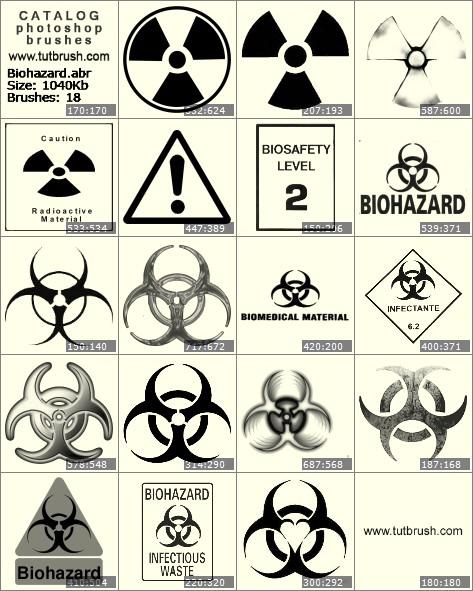 Кисти для фотошопа Биологическая опасность