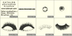 false eyelashes - photoshop brush preview