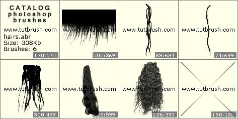 Кисти для фотошопа Женские волосы