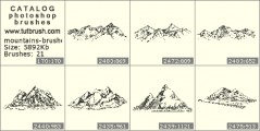 Mountain peaks - photoshop brush preview