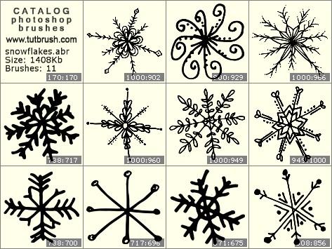 Photoshop brushes large snowflakes