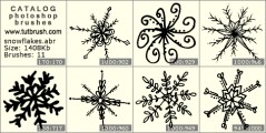large snowflakes - photoshop brush preview