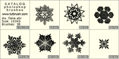 Assembly of snowflakes - photoshop brush preview