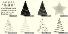 Каркас новогодних елок - превью кисти фотошоп