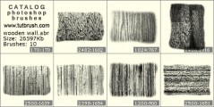 A wall of wood - photoshop brush preview