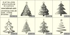 Рождественские елки - превью кисти фотошоп