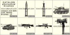 Weapon and facilities of defence - photoshop brush preview