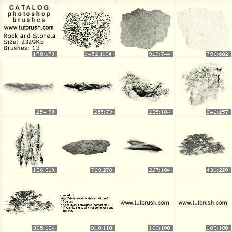 Кисти для фотошопа структура камня