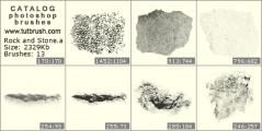 структура камня - превью кисти фотошоп