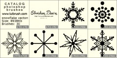 snowflake vectors - photoshop brush preview