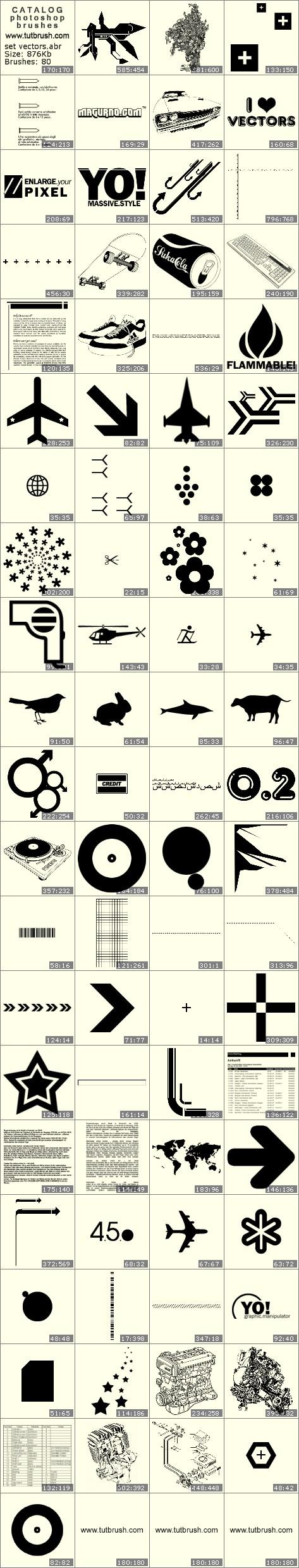 Кисти для фотошопа набор векторных знаков