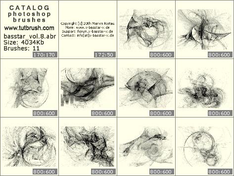 Кисти для фотошопа фрактальные нити vol.8