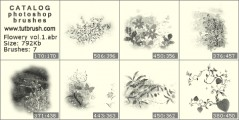 small floral fantasy - photoshop brush preview