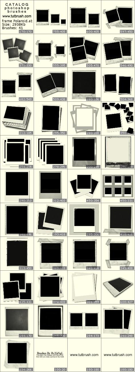 Photoshop brushes frame Polaroid