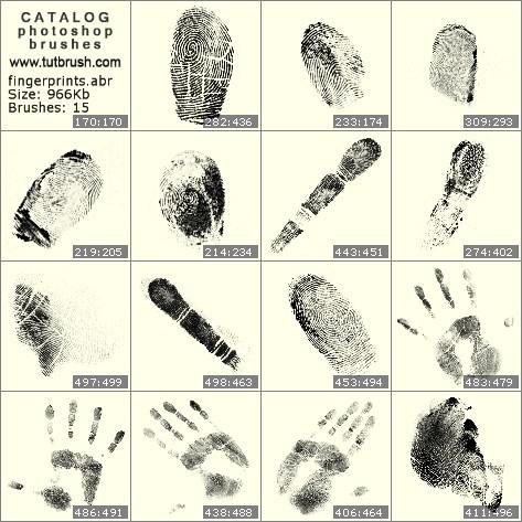 Кисти для фотошопа отпечатки пальцев