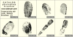 fingerprints - photoshop brush preview