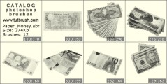 paper money - photoshop brush preview