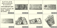 banknotes - photoshop brush preview