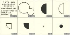 circular vector - photoshop brush preview