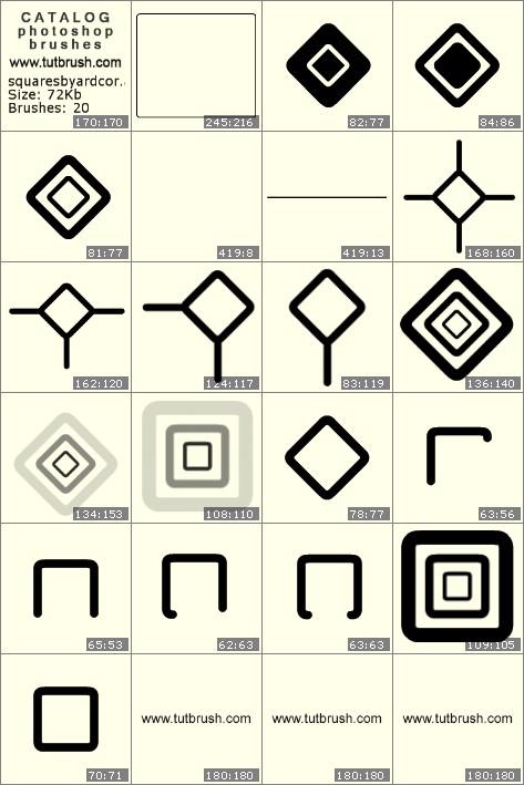Кисти для фотошопа квадраты
