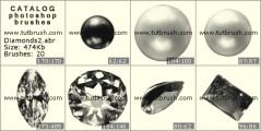Драгоценные камни - алмазы 2 - превью кисти фотошоп