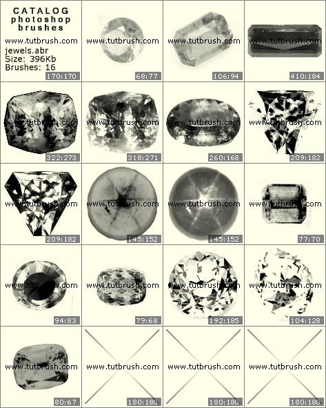 Кисти для фотошопа Набор драгоценных камней