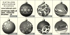 Christmas balls - photoshop brush preview