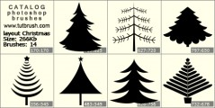 layout Christmas tree - photoshop brush preview