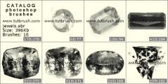 Набор драгоценных камней - превью кисти фотошоп