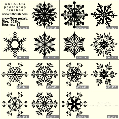 Photoshop brushes snowflake petal