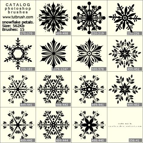 Кисти для фотошопа снежинка из лепестков