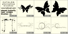 elegant butterfly - photoshop brush preview