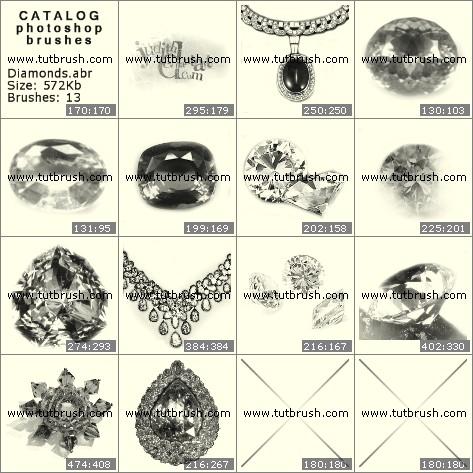 Кисти для фотошопа Украшения из бриллиантов
