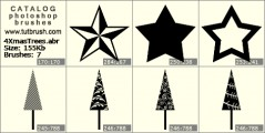 star new year - photoshop brush preview