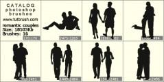 romantic couples - photoshop brush preview