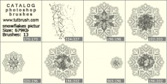 snowflakes pictures - photoshop brush preview