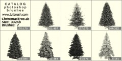 Christmas Tree blank - photoshop brush preview